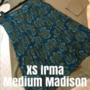 XS Irma shirt with Medium Madison skirt